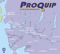 ProQuip Coverage Area